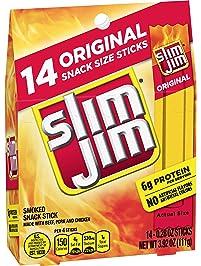 Slim Jim Snack-Sized Smoked Meat Stick, Original Flavor, .28 Oz. 14-Count