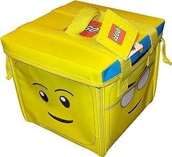 LEGO A1354XX - Alfombra de Juegos y Caja de almacenaje 2 en 1 con diseño de Cabeza: Amazon.es: Juguetes y juegos