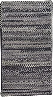 "product image for Harborview Grey 3' 0"" x 5' 0"" Cross Sewn Rectangle Braided Rug"