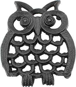 """Cast Iron Owl Trivet 