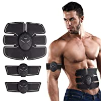 ABS Trainer Muscle Stimulator, EMS Muscle Toner Equipment Abdominal Toning Belt Toner Fitness Equipment For Abdomen/Arm/Leg Training Slimming Body Sculptor Massage Pad Abdominal Muscle Exerciser