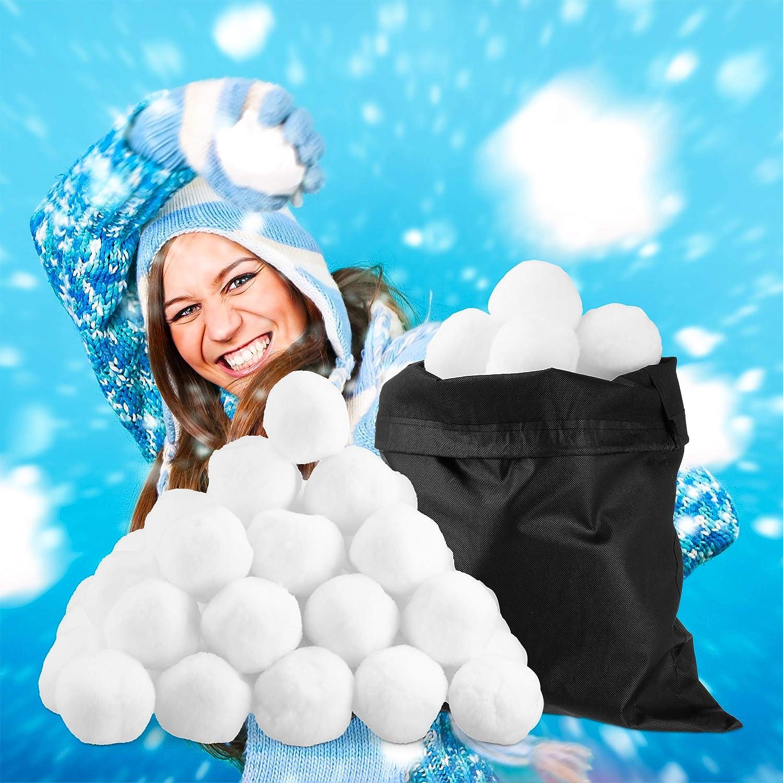 Relaxdays Lot de 50 balles de Neige artificielles pour intérieur et extérieur Blanc