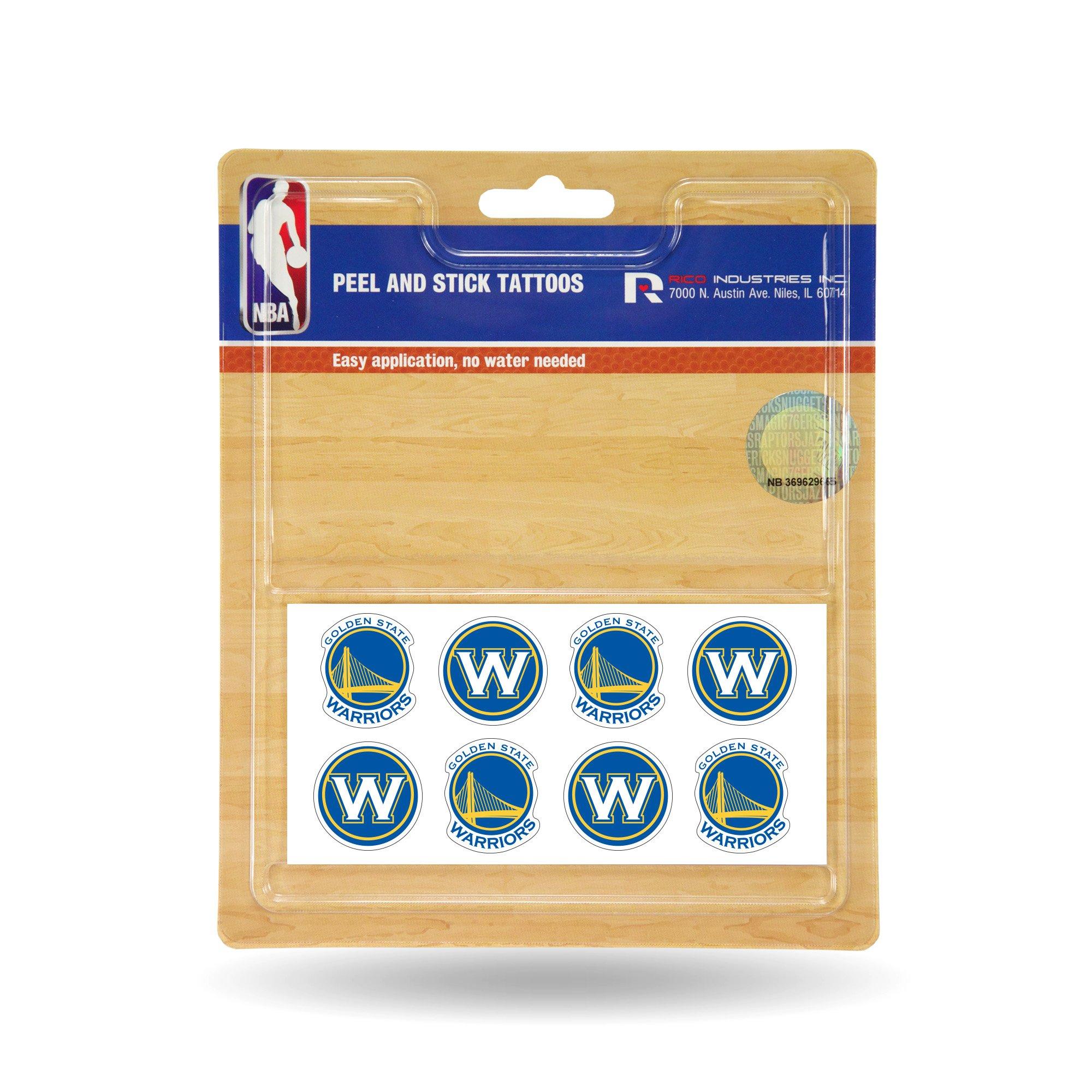 NBA Golden State Warriors Face Tattoos, 8-Piece Set