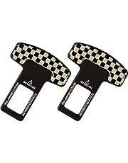 Pentaton 2x Bouchon d alarme pour boucle de ceinture de sécurité, damier  noir  e32f961ddad