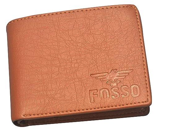Fosso reg; Men Brown Leather Wallet 6 Card Slots Wallets