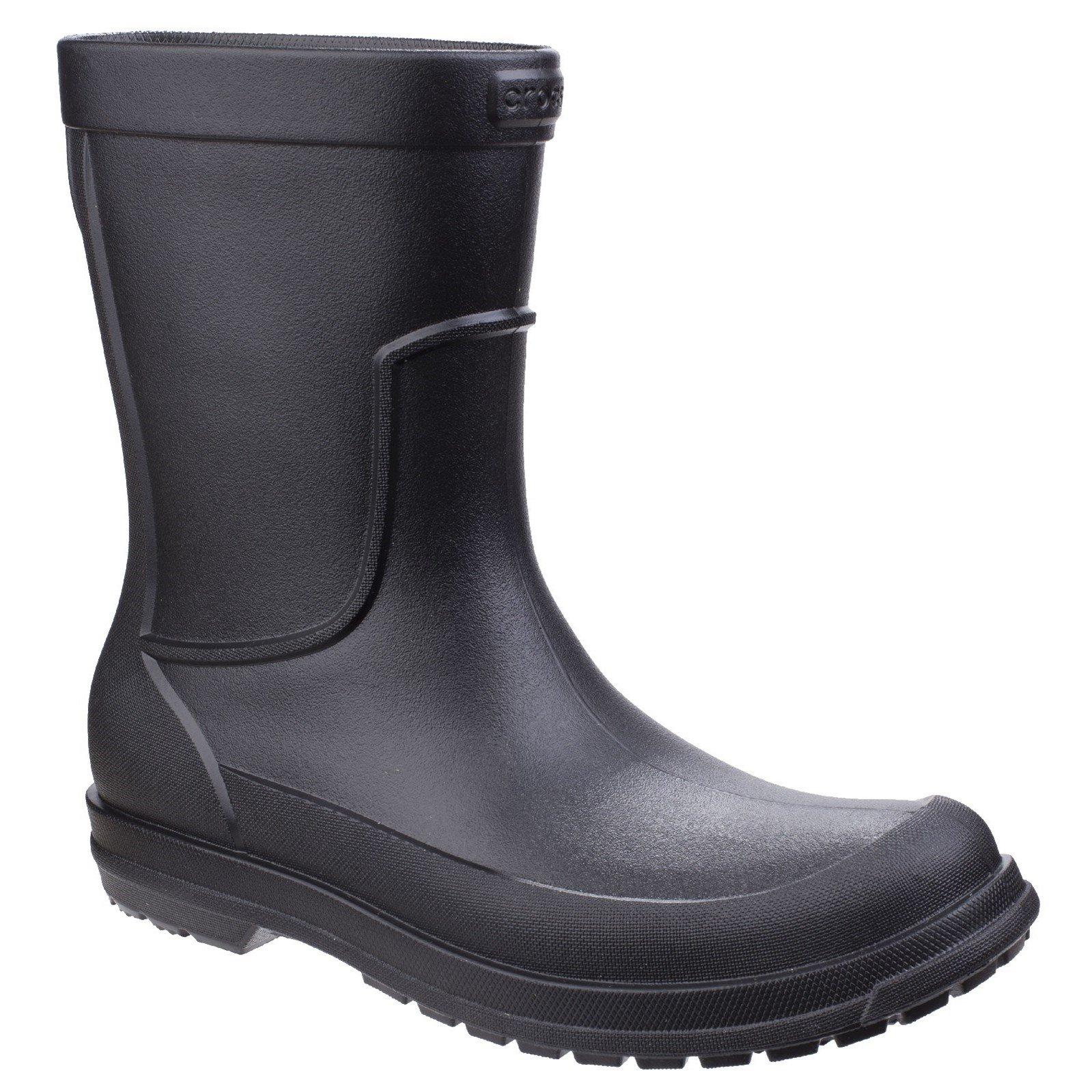 Crocs Mens AllCast Rain Boots (9 US) (Black)