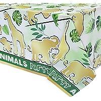 Mantel para Fiestas de Selva - 1 Pieza 137 x 274cm Suministros para Fiestas Infantiles Jungle Safari Decoraciones para…
