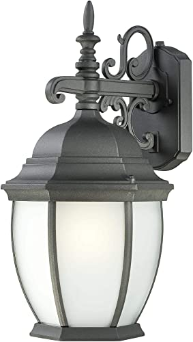 Thomas Lighting PL92297 Covington Outdoor Wall Lantern, Black