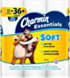 Charmin Essentials Soft Toilet Paper, Bath Tissue, Huge Roll, 12 Count