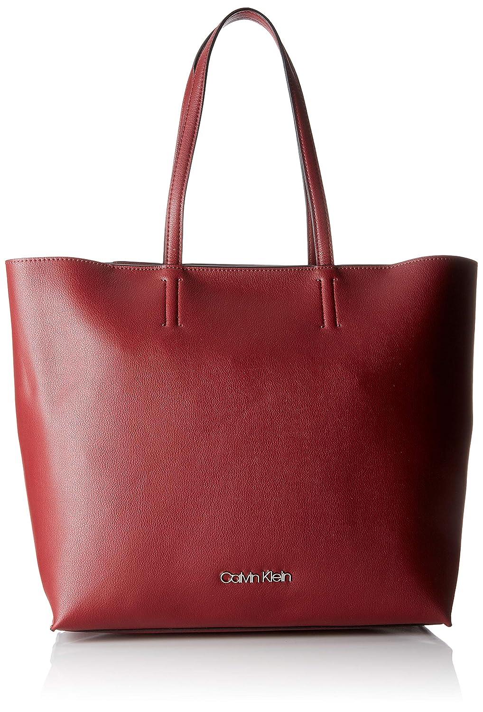 Calvin Klein Damen Tack Shopper Tote, Rot (Bordeaux