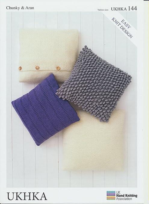 UKHKA144 patrón para tejer cojines para/almohadas: Amazon.es ...