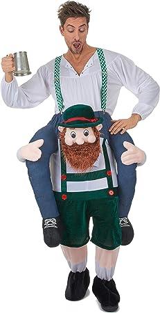 Spalla Cavalcare trasportare Costume Adulto Festa Costume Da Uomo Vestito