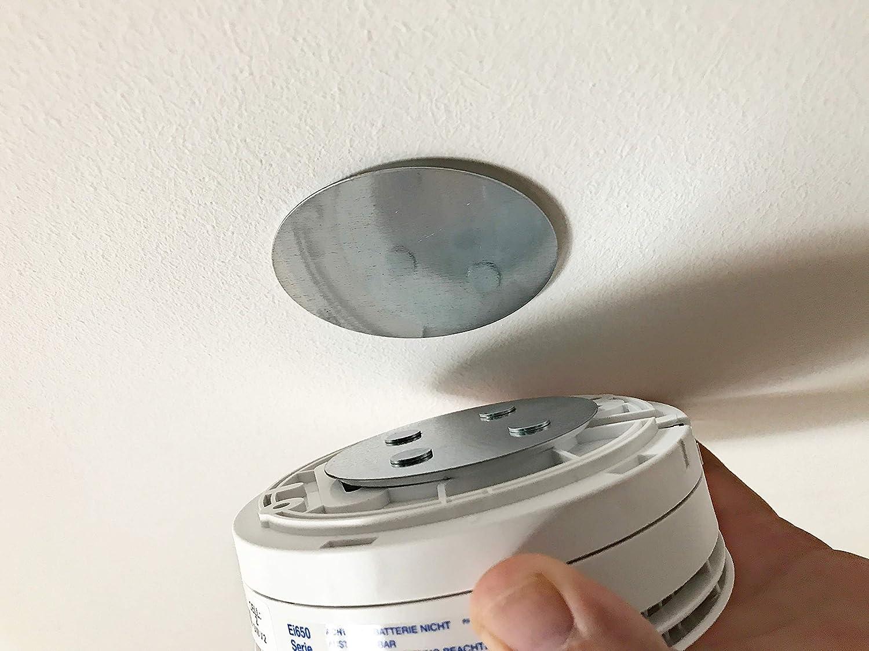 smoke detector self-adhesive HaftPlus magnetic holder universal magnetic fastening round adhesive pads with 4 magnets. magnetic holder