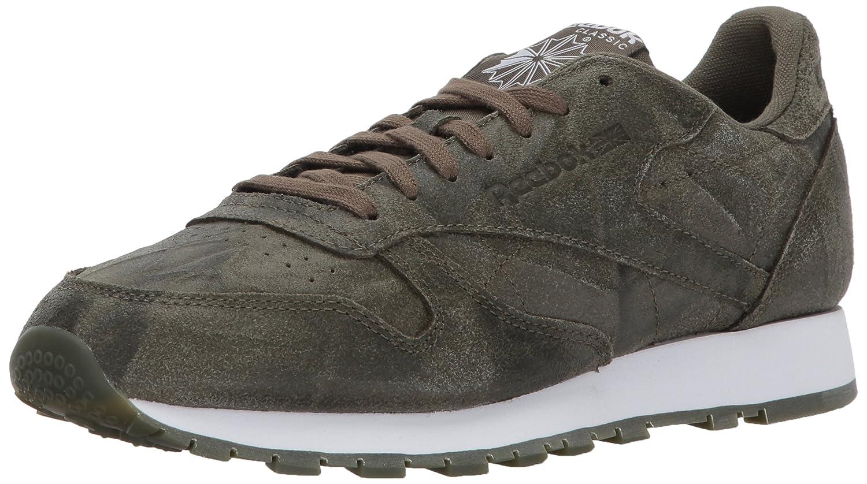 Reebok Men's CL Leather Cte Fashion Sneaker, Army Green