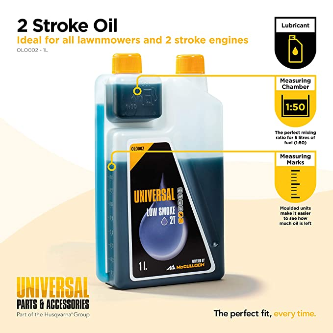 Universal Low Smoke 2 Stroke Oil for All 2 Stroke Engines - 1 L