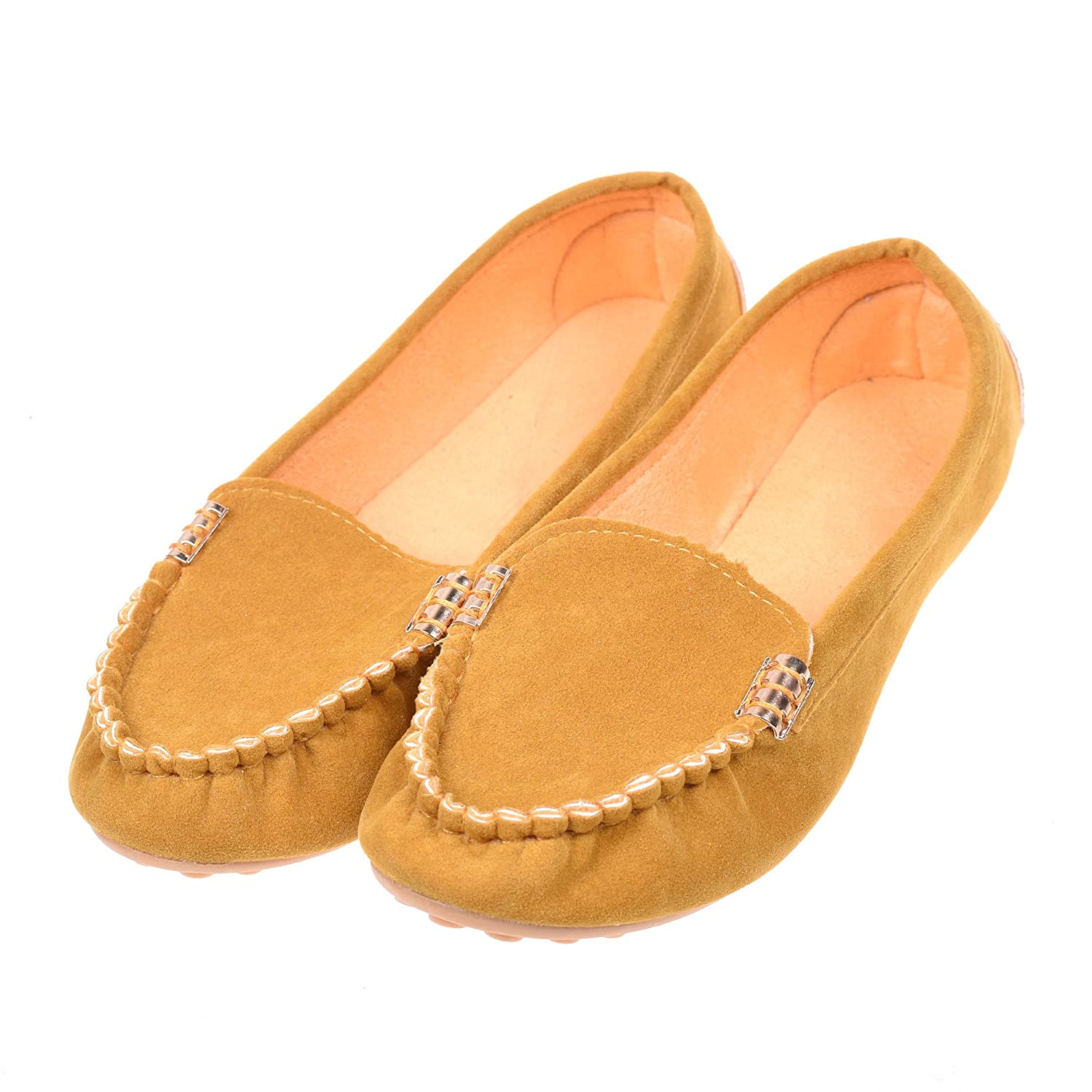 Kloud City Women鈥檚 Flat Shoes Suede Soft Slip-On Loafers Boat Shoes Indoor Outdoor Casual Shoe