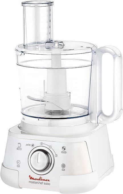 Moulinex FP522H Masterchef 5000 - Robot de cocina (3 L), color blanco: Amazon.es: Hogar
