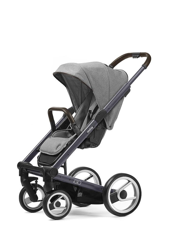mutsy igo farmer edition stroller, dark grey chasiss/farmer mist