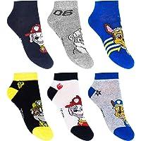 Calcetines deportivos para niños, 6 pares de calcetines de la Patrulla Canina.