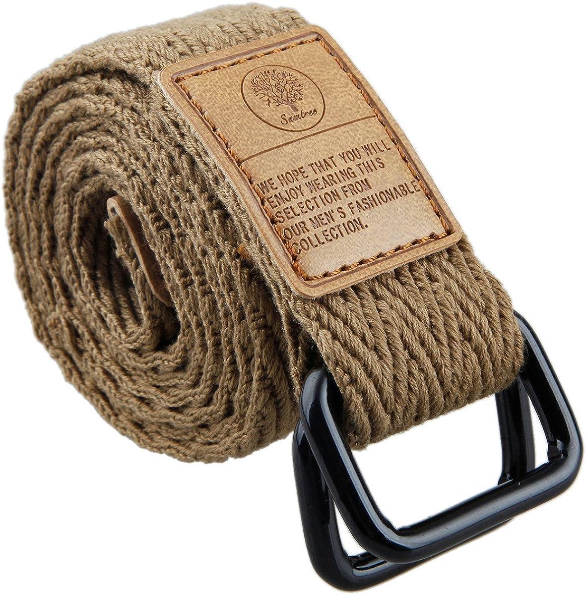 Herren Canvas Belt Heavy Duty Taillenriemen Bund B8N2