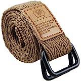 moonsix Canvas Web Belts for Men, Military Style D-ring Buckle Men's Belt
