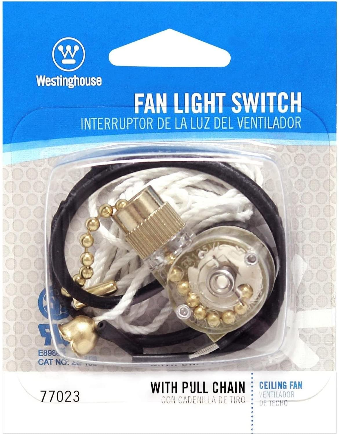 Westinghouse Lighting 7702300 Fan-Light Switch & Pull Chain - Ceiling Fan Pull Chains -