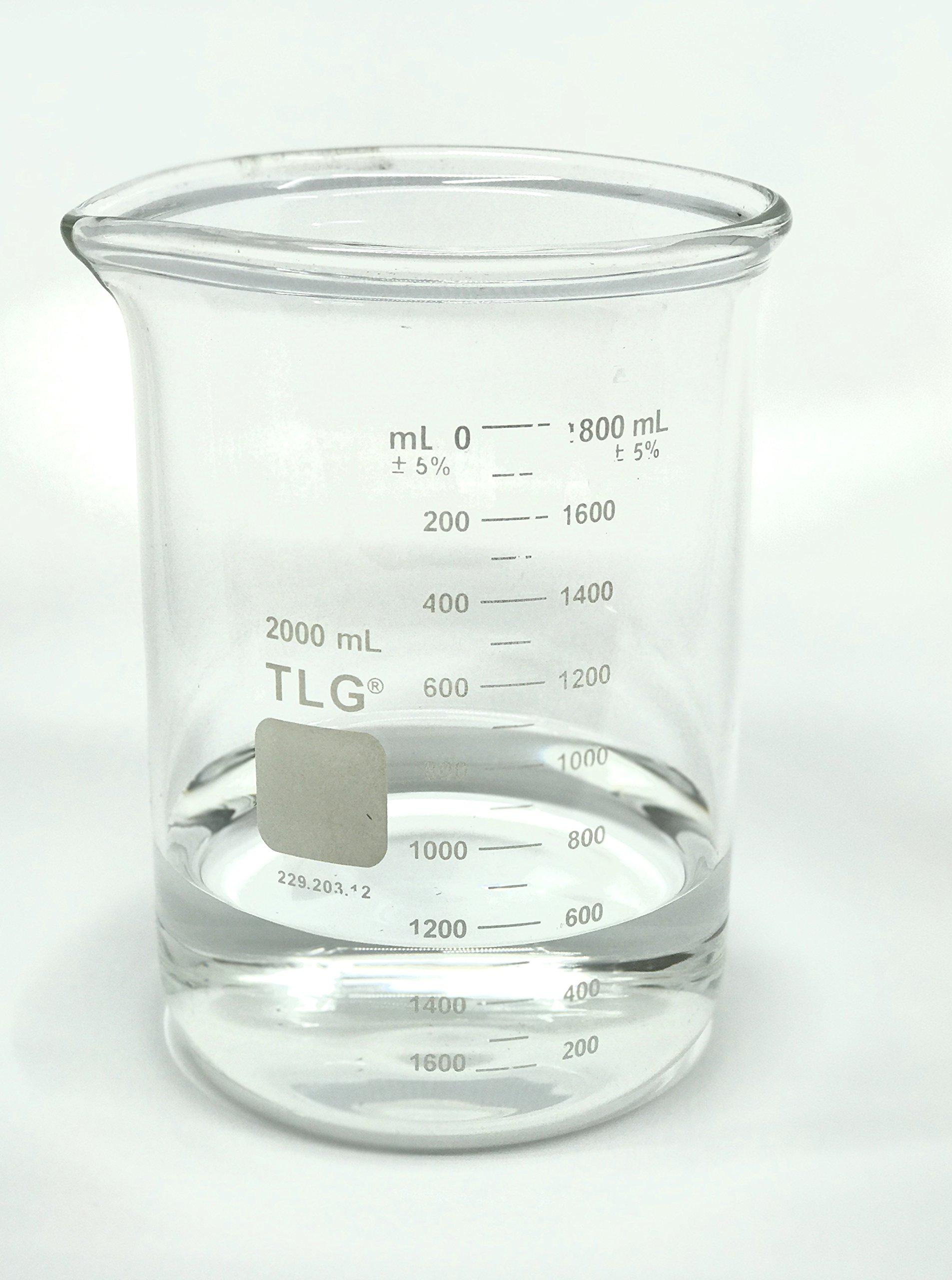 Chem Science INC 229.203.12 Heavy Duty, Graduated Beaker, 2000 Ml, 2000Milliliters, Degree C, Borosilicate Glass, (