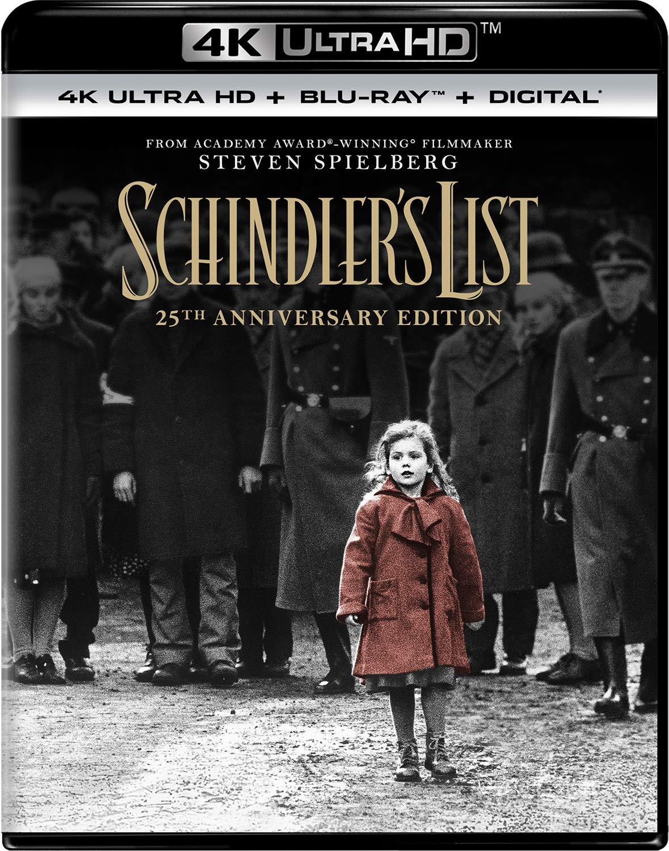 4K Blu-ray : Schindler's List (25th Anniversary Edition) (With Blu-ray, Anniversary Edition, 4K Mastering, 3 Pack, Digital Copy)