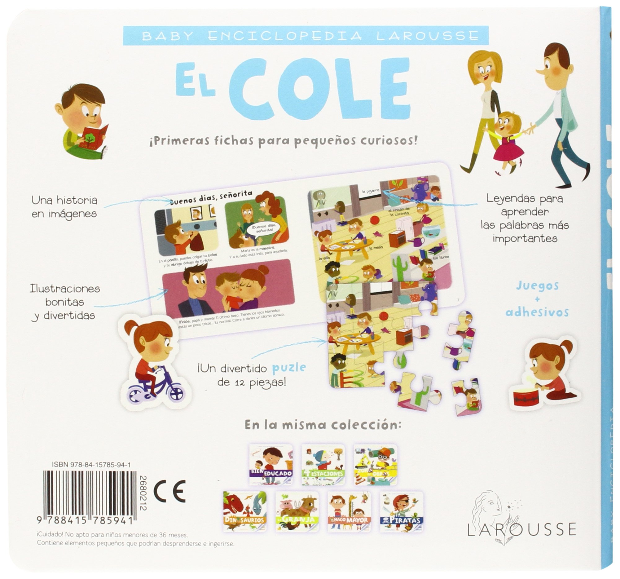 Amazon.com: El cole / The School (Baby Enciclopedia) (Spanish Edition) (9788415785941): Larousse Editorial, Claire Wortemann, Imma Estany: Books