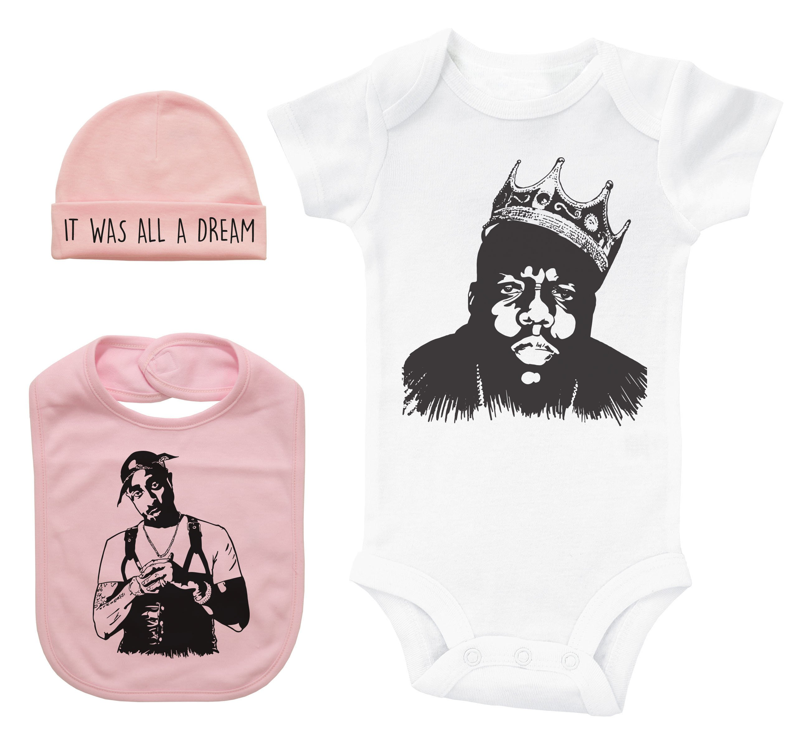 Biggie Smalls Crown Hip Hop Baby Bosysuit Hip Hop Outfit Cool Baby One Piece Baby Shower l Notorious BIG Baby Gift Baby Clothes