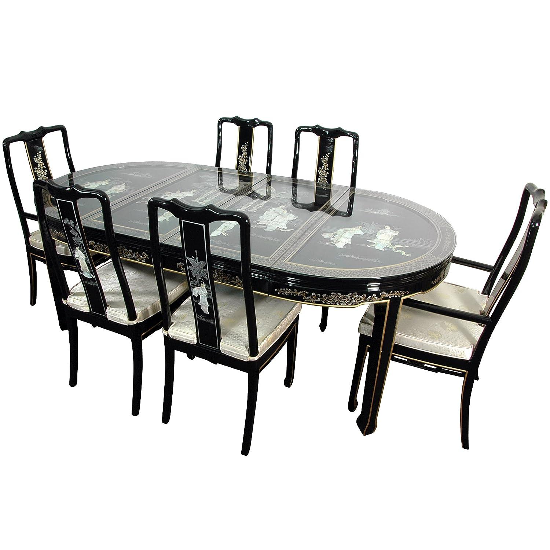 Amazon.com - ORIENTAL Furniture Black Mother of Pearl ...