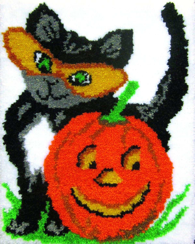 MCG Textiles Halloween Cat Latch Hook Kit - Purple