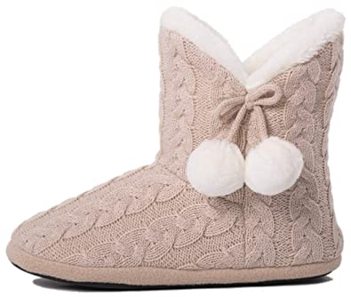 Stretchy Slippers Boots Womens Ankle Bootie Winter Fur Shoes