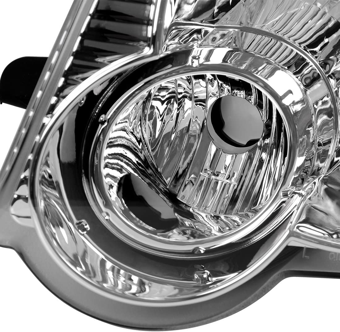 AUTOSAVER88 Headlight Assembly Compatible with 2006-2010 Ford Explorer Chrome Housing with Amber Reflector