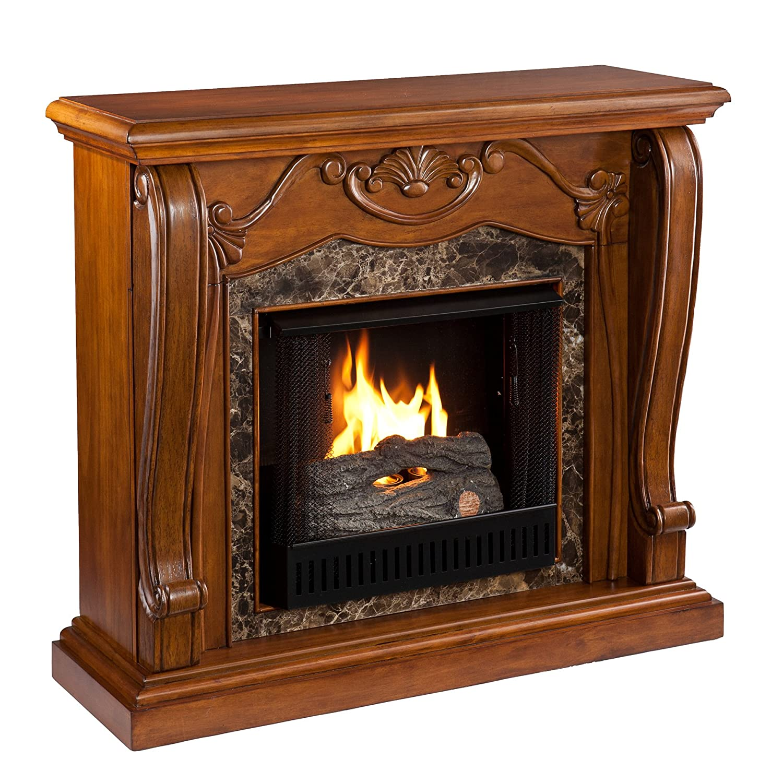 amazon com sei amz4669g cardona gel fuel fireplace walnut home