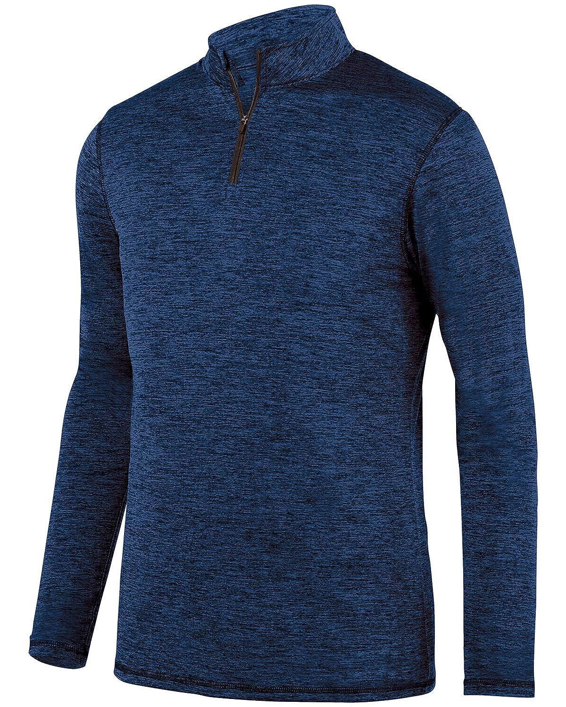 A Product of Augusta Sportswear Adult Intensify Black Heather Quarter-Zip Pullov