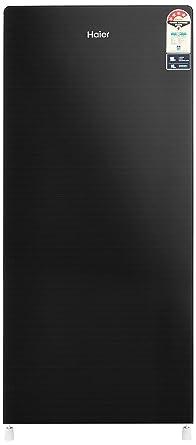 Haier 195 L 4 Star Direct Cool Single Door Refrigerator(HRD-1954CKG, Black)