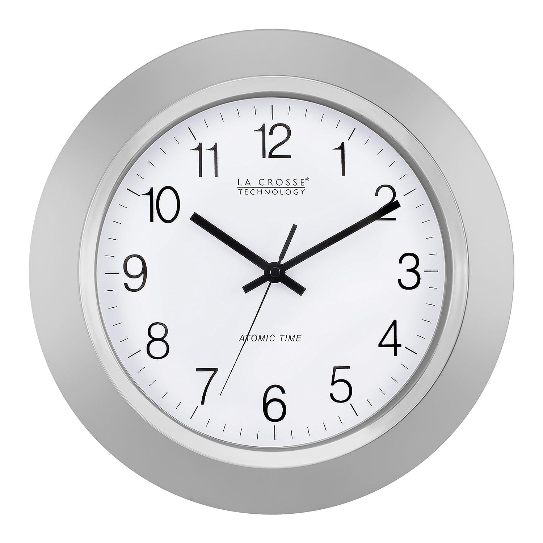 Amazon.com: La Crosse Technology WT-3144S 14 Inch Atomic Analog Silver Wall  Clock: Home & Kitchen
