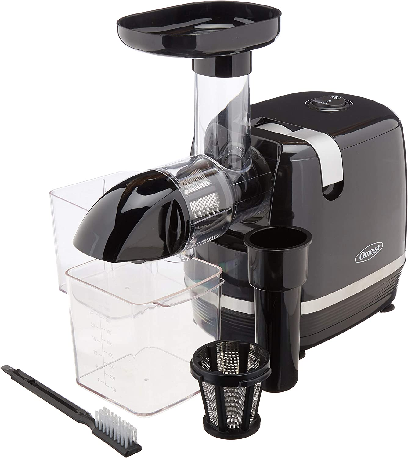 Omega H3000R Cold Press 365 Juicer Slow Masticating Extractor Creates Delicious Fruit Vegetable and Leafy Green High Juice Yield and Preserves Nutritional Value, 150-Watt, Black