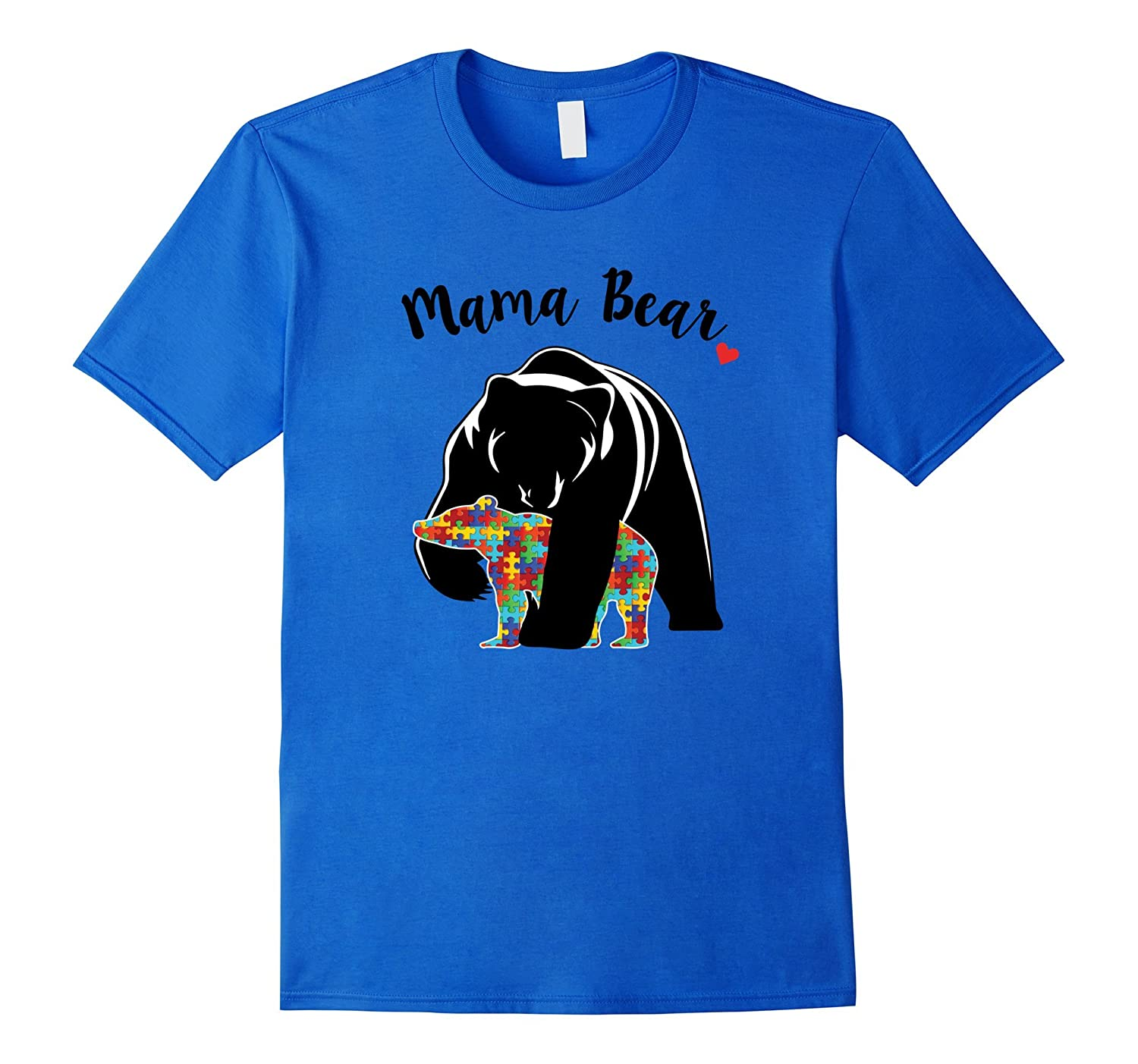 Autism Awareness Mama Bear Support Love T-Shirt-ah my shirt one gift