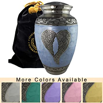 Amazon loving angel wings blue and silver funeral burial loving angel wings blue and silver funeral burial niche or columbarium cremation solutioingenieria Image collections