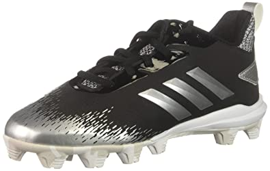 new products c15aa f6b83 adidas Unisex Adizero Afterburner V Baseball Shoe Black Silver Metallic White  1 M US