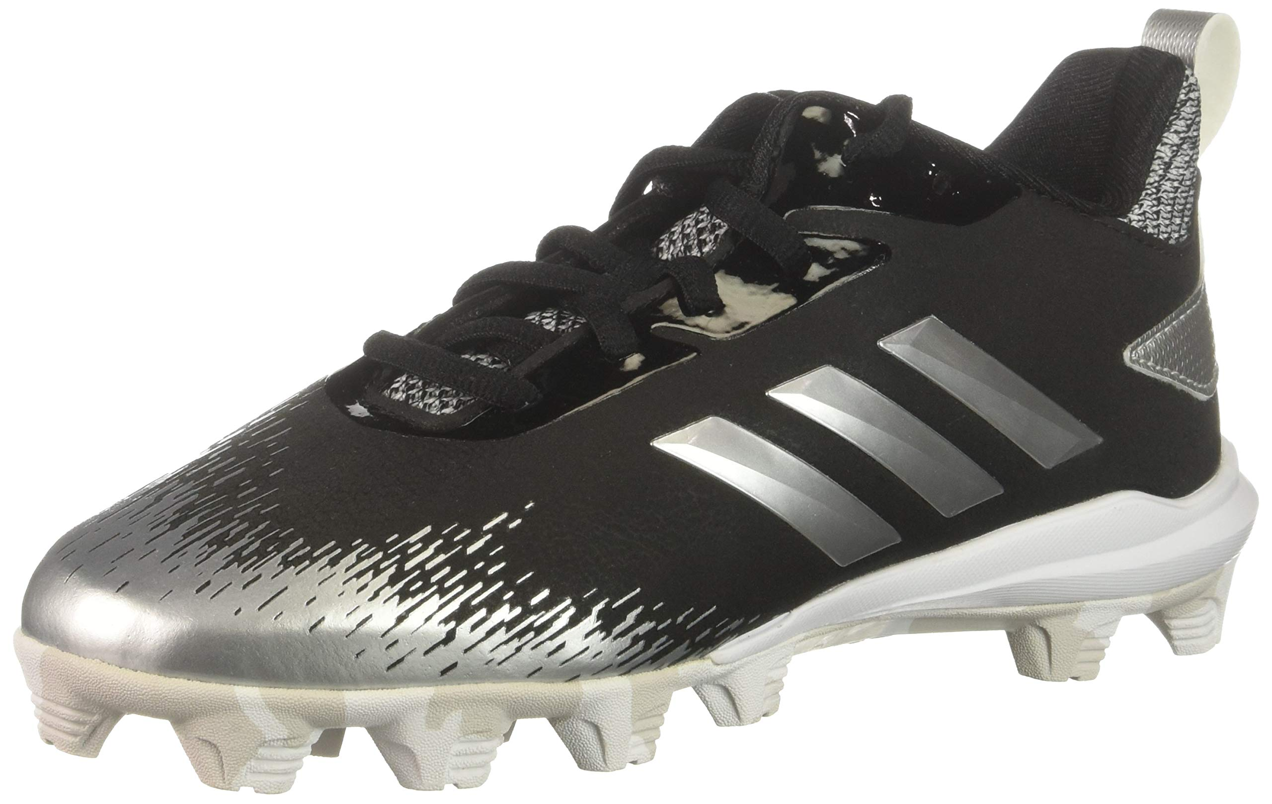 adidas Unisex Adizero Afterburner V Baseball Shoe Black/Silver Metallic/White 1 M US Little Kid