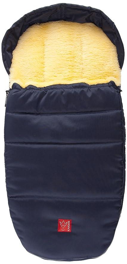 Kaiser 6720536 Lenny - Saco de dormir de lana de oveja superligero marine