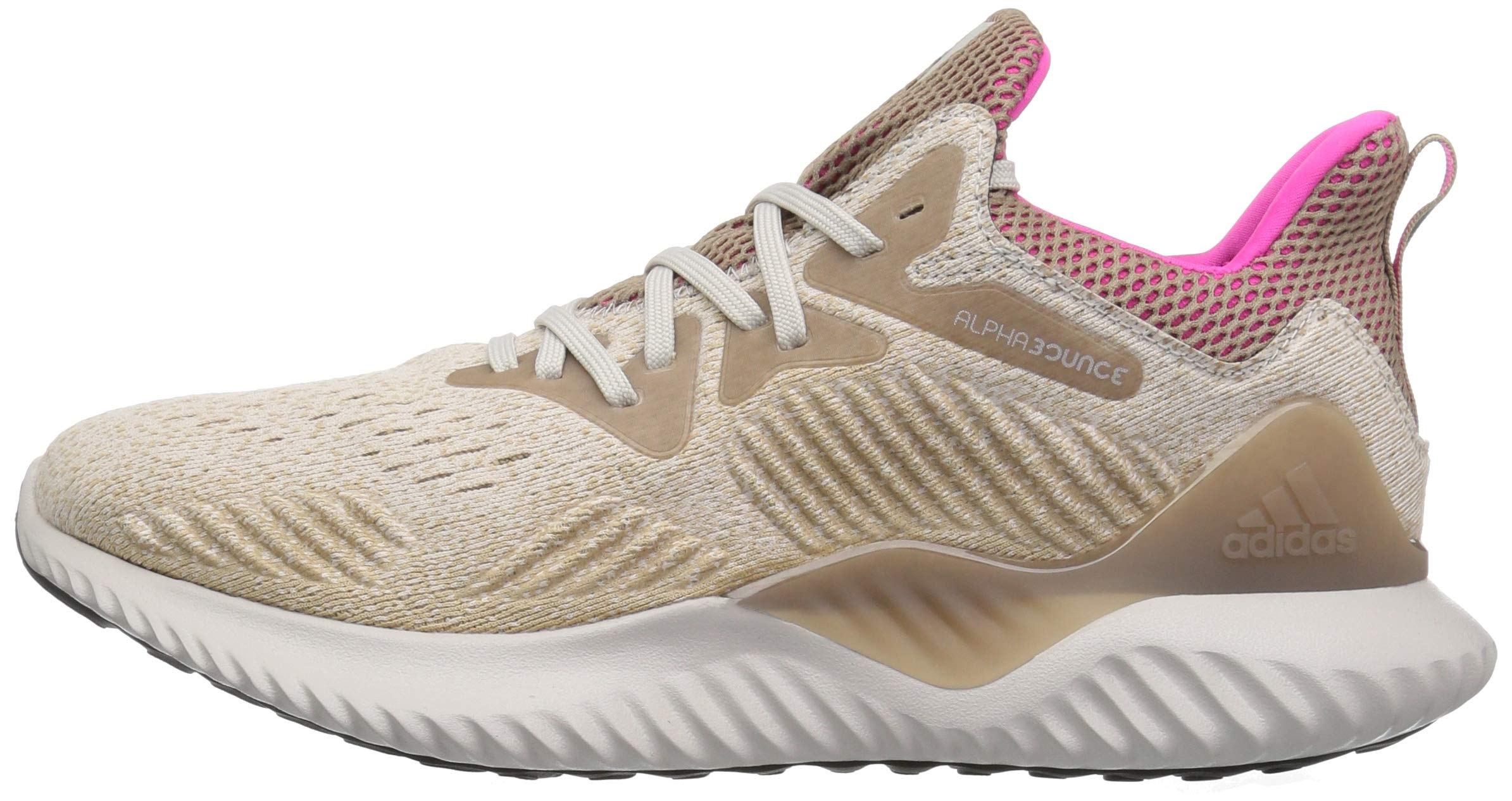 adidas Men's Alphabounce Beyond Running Shoe, Chalk Pearl/Shock Pink/Trace Khaki, 7.5 M US by adidas (Image #5)