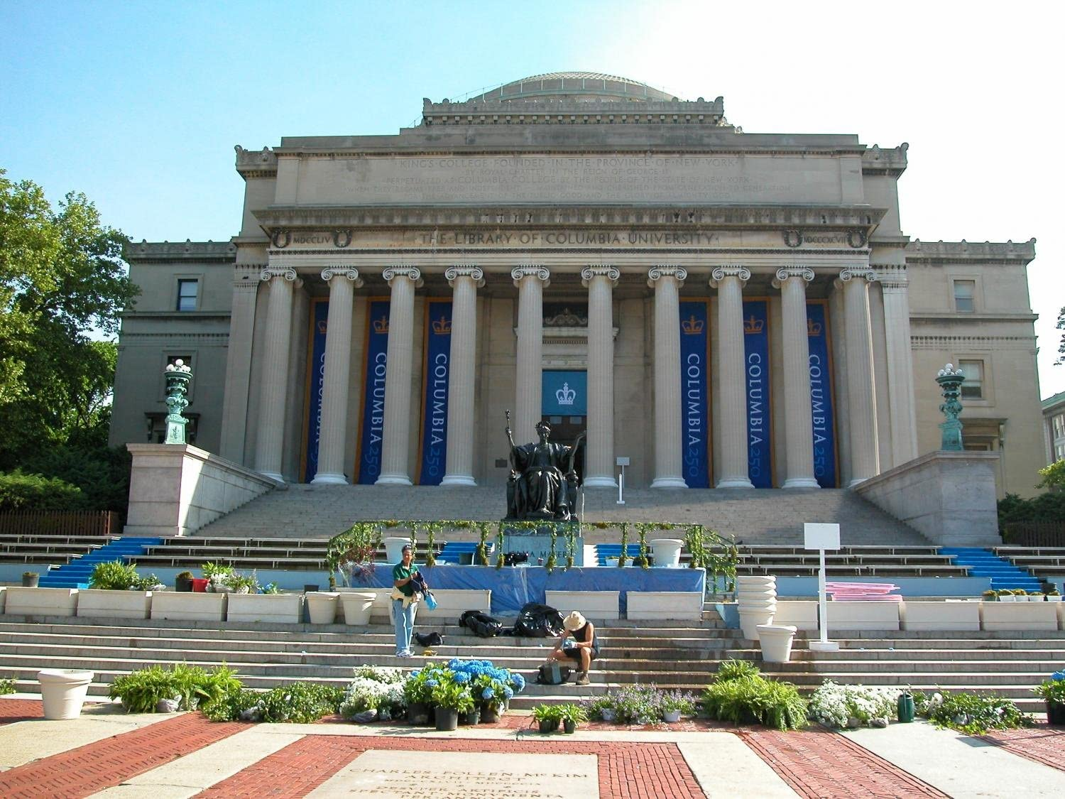 18 in W x 14 in H Wallmonkeys Columbia University in New York City Wall Decal Peel and Stick Graphic WM120054