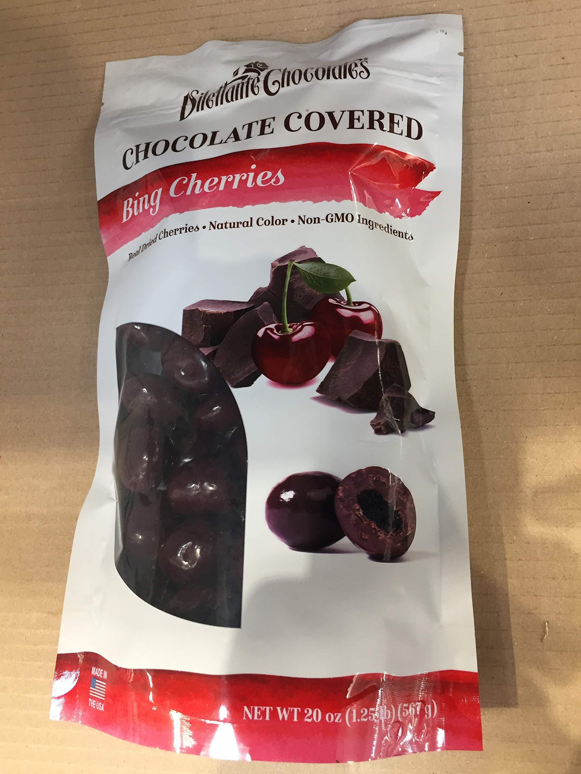 Dilettante Chocolates, Bing Cherries Chocolate Covered, 20 OZ (One Pack) by Dilettante