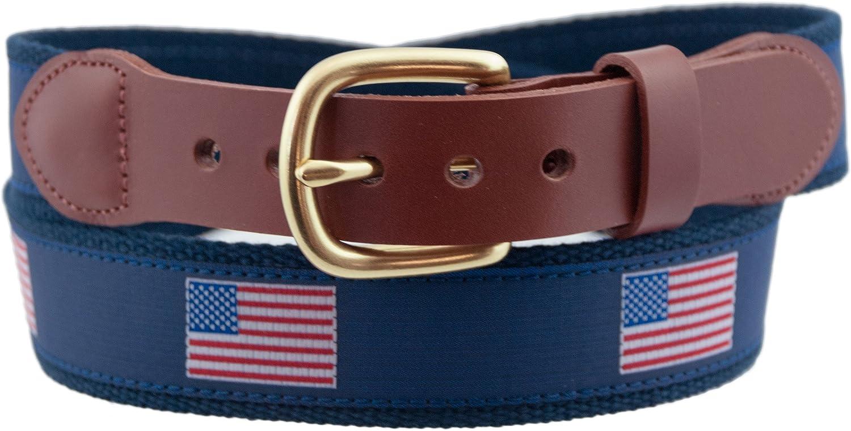Leather Man Ltd American Flag Belt