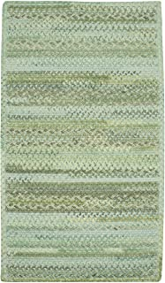 "product image for Harborview Green 9' 6"" x 9' 6"" Cross Sewn Rectangle Braided Rug"