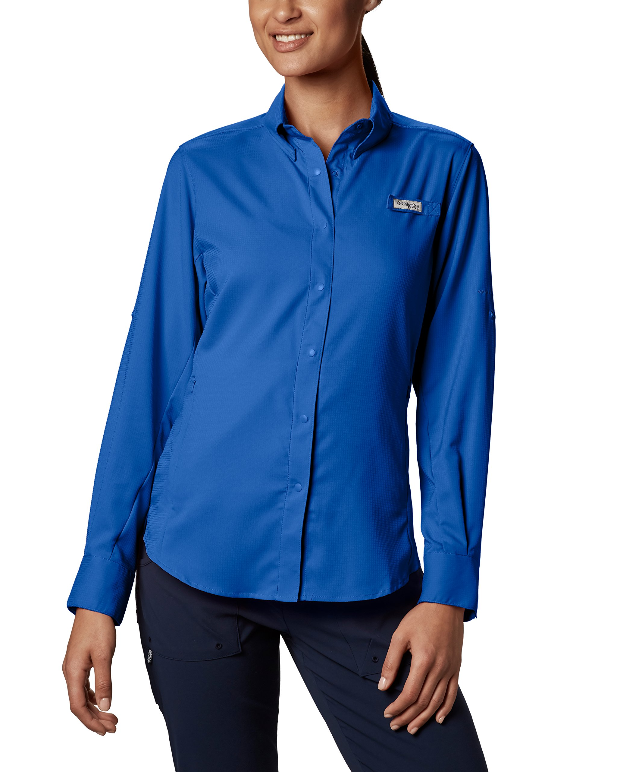 Columbia Women's PFG Tamiami II Long Sleeve Shirt , Blue Macaw, Large by Columbia